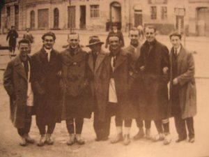 První organizovaní ledečští fotbalisté (1924). Zleva Wolf, Pleskot, Laštovička, Miláček, Minařík, Pešek, Doubek